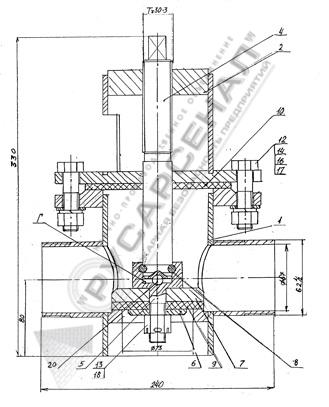 Схема надземного гидранта
