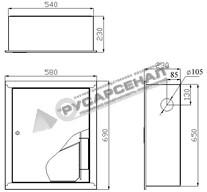 Шкаф ШПК-310 встроенный, закрытого типа (без окна)