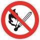 Запрещаетя пользоваться открытым огнем и курить