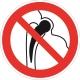 Запрещается работа (присутствие) людей, имеющих металлические импланты