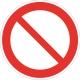 Запрещение: прочие опасности или опасные действия