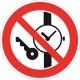 Запрещается иметь при (на) себе металлические предметы (часы и т. п.)