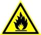 Пожароопасно. Легковоспламеняющиеся вещества